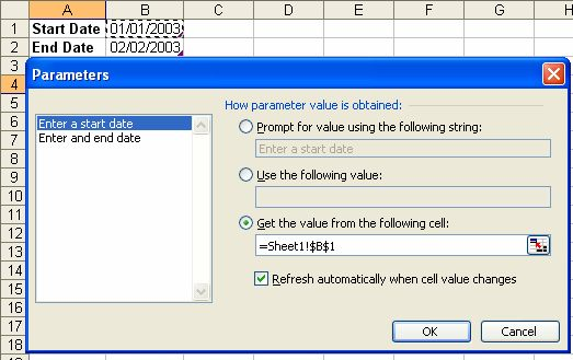 Parameters in Excel external data queries – Daily Dose of Excel
