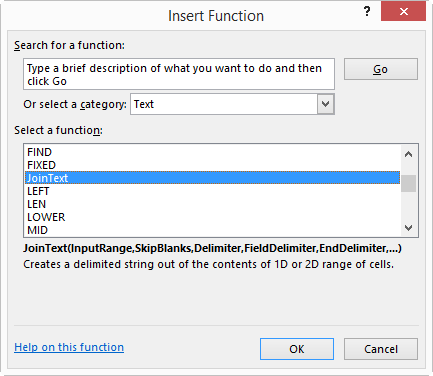 Function Dialog